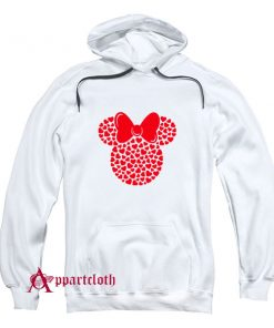 Disney Minnie Mouse Icon Filled with Hearts Hoodie
