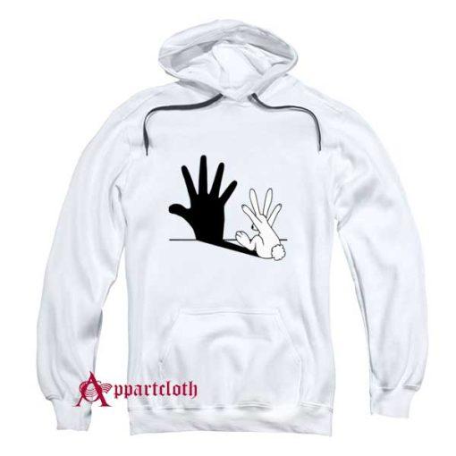 Rabbit Hand Shadow Hoodie