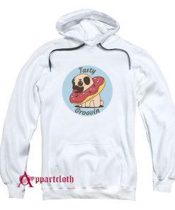 Pug Doughnut Tasty Groovin Hoodie