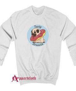 Pug Doughnut Tasty Groovin Sweatshirt