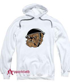 Angry Military Bulldog Hoodie