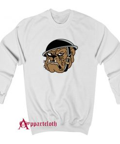 Angry Military Bulldog Sweatshirt
