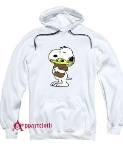 Snoopy Baby Yoda Friends Hoodie