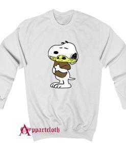 Snoopy Baby Yoda Friends Sweatshirt