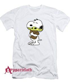 Snoopy Baby Yoda Friends T-Shirt