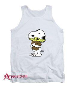 Snoopy Baby Yoda Friends Tank Top